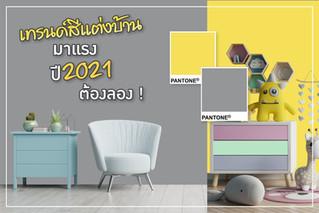 เทรนด์สีแต่งบ้าน มาแรง ปี 2021 ต้องลอง !
