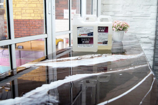 โต๊ะบาร์ DIY แต่งผิวสร้างลายหินอ่อนด้วย I-Coat Ice Resins