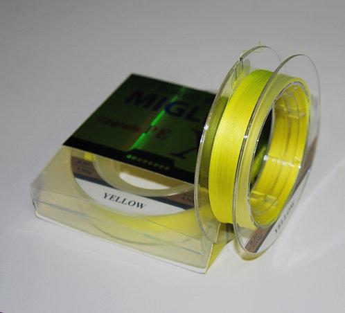 Плетеный шнур из 8-ми нитей Желтый