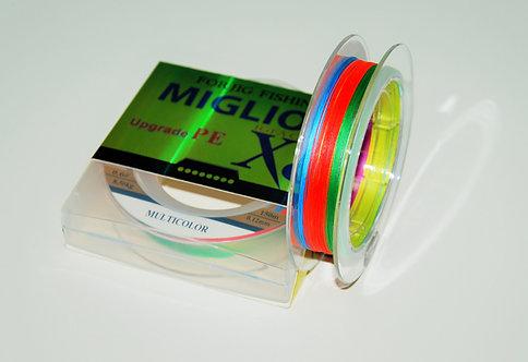 Плетеный шнур из 8-ми нитей 5-ти цветный
