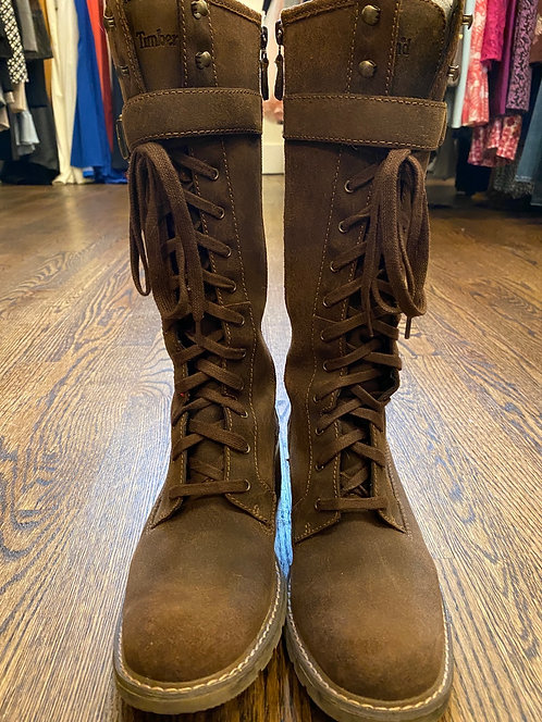 Timberland leather lace up boots (8)