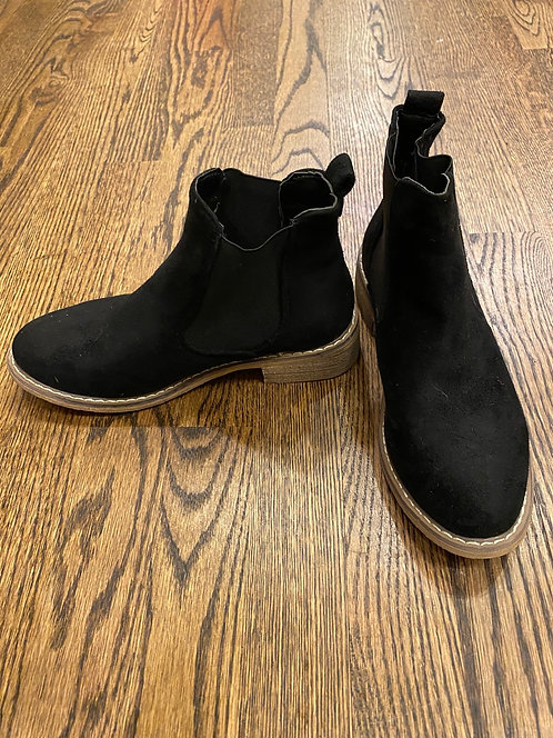 Seven black suede booties 6.5