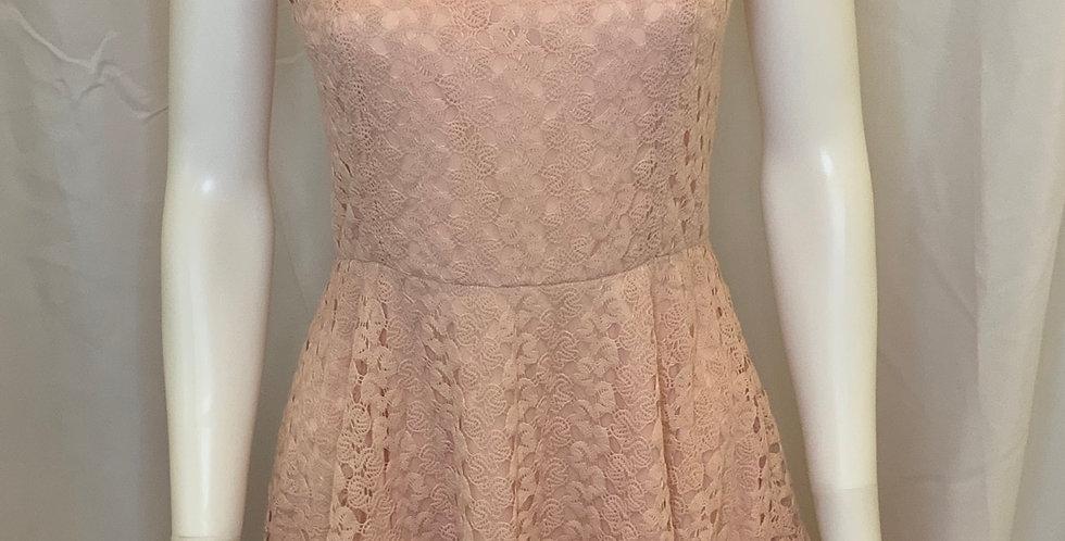 Love Fire Light Pink Lace Tank Dress