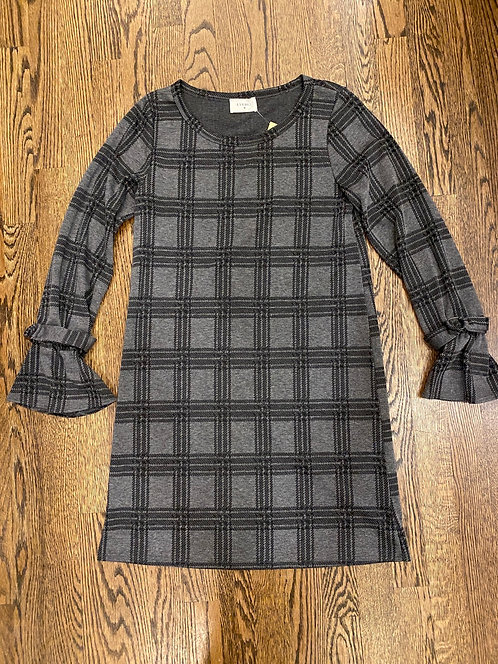Everly black & grey plaid dress S