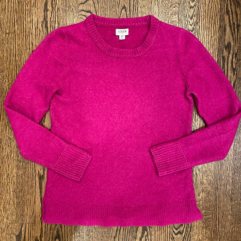 JCrew soft fushia sweater xS