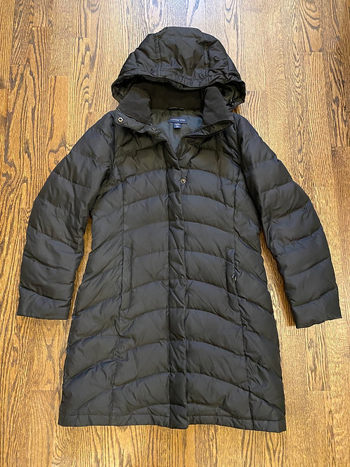 Lands End black winter jacket (XS)