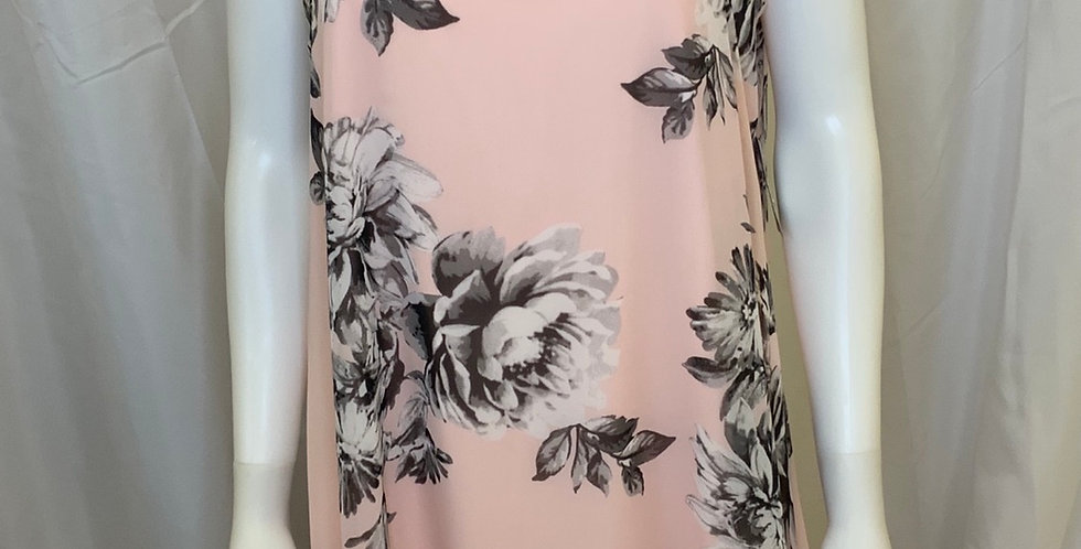 *New With Tags* JH Pink/Black Flower Tank Dress