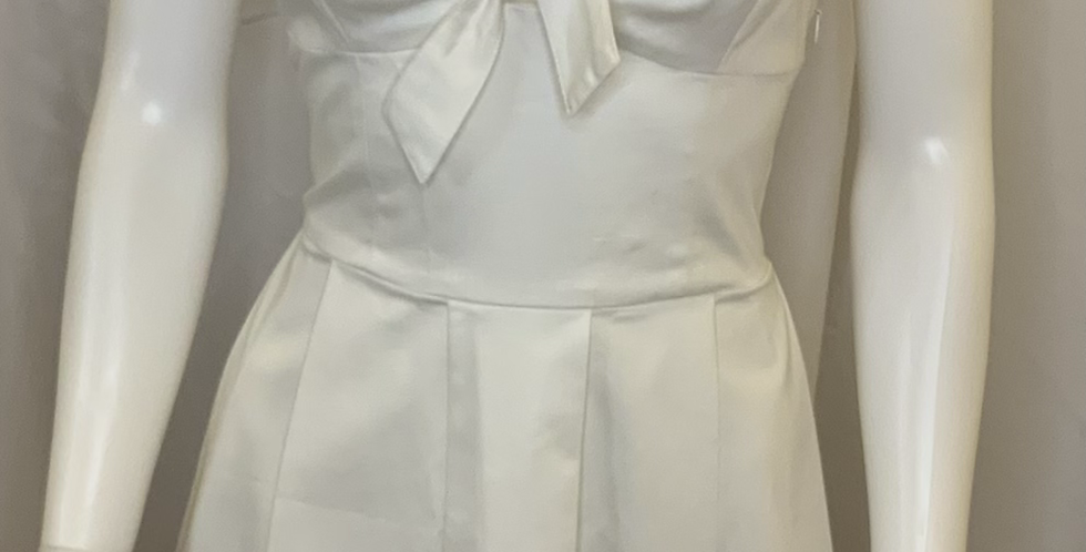 PJK Ivory Tank Dress w/ X Back & Bow Front