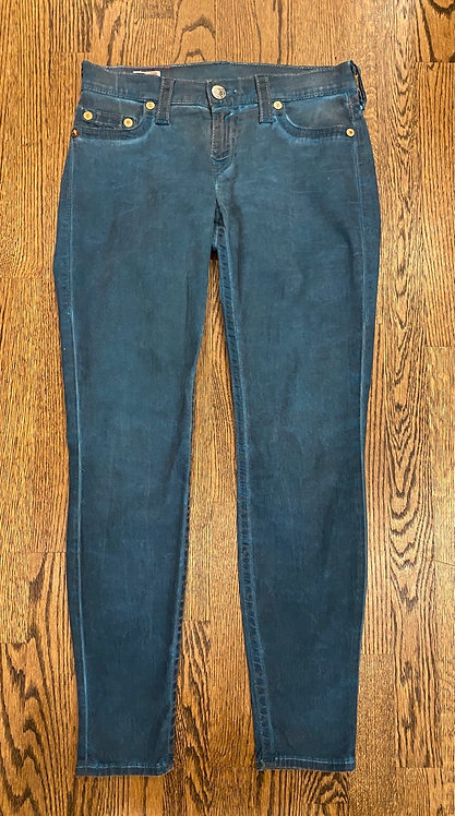 True Religion teal jeans Size 28