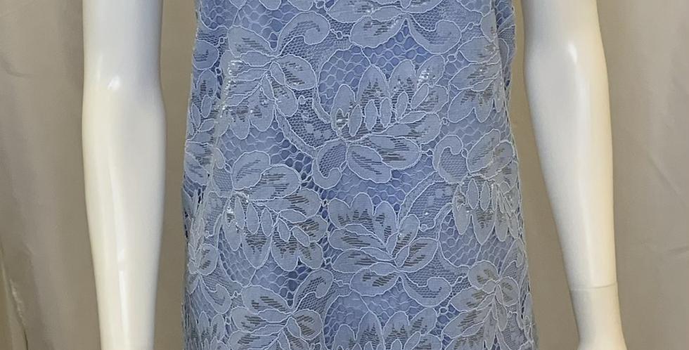 BB Dakota Blue Flower Lace Tank Dress