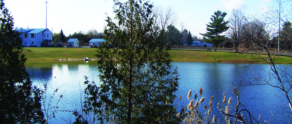Vue sur le lac du chalet le Martin-Pêcheur
