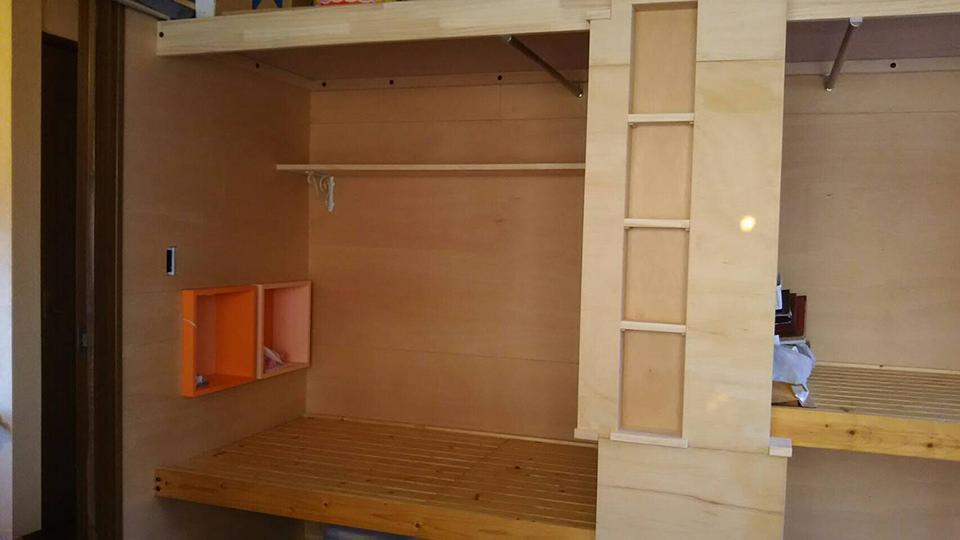 スペースを有効にニッチも施工