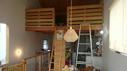 風通しと採光と収納を兼ね備えたロフト手摺へ改修1