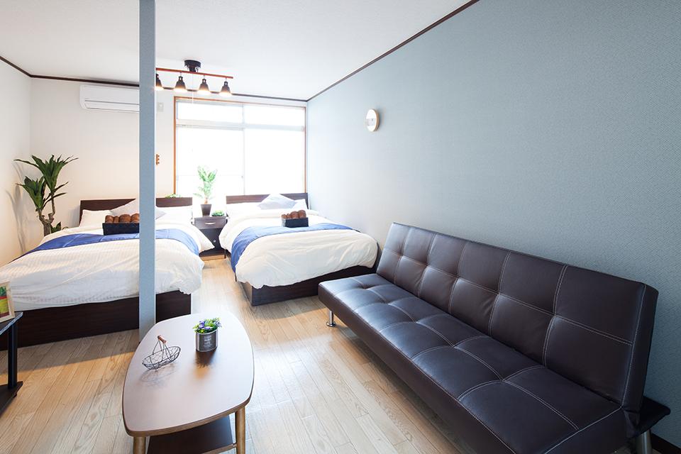 和室から洋室へリノベーション(家具配置後)