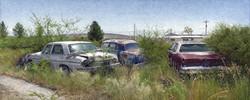 Three Sedans in Marathon, TX