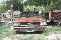 Ford Mustang in Marfa, TX