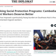 """Opinion: """"Rethinking Social Protection Programs: Cambodian Migrant Workers Deserve Better"""""""