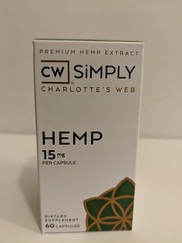 CW Simply Hemp 15 mg Capsules