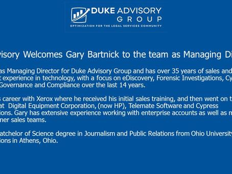 eDiscovery Veteran joins Duke Advisory Group