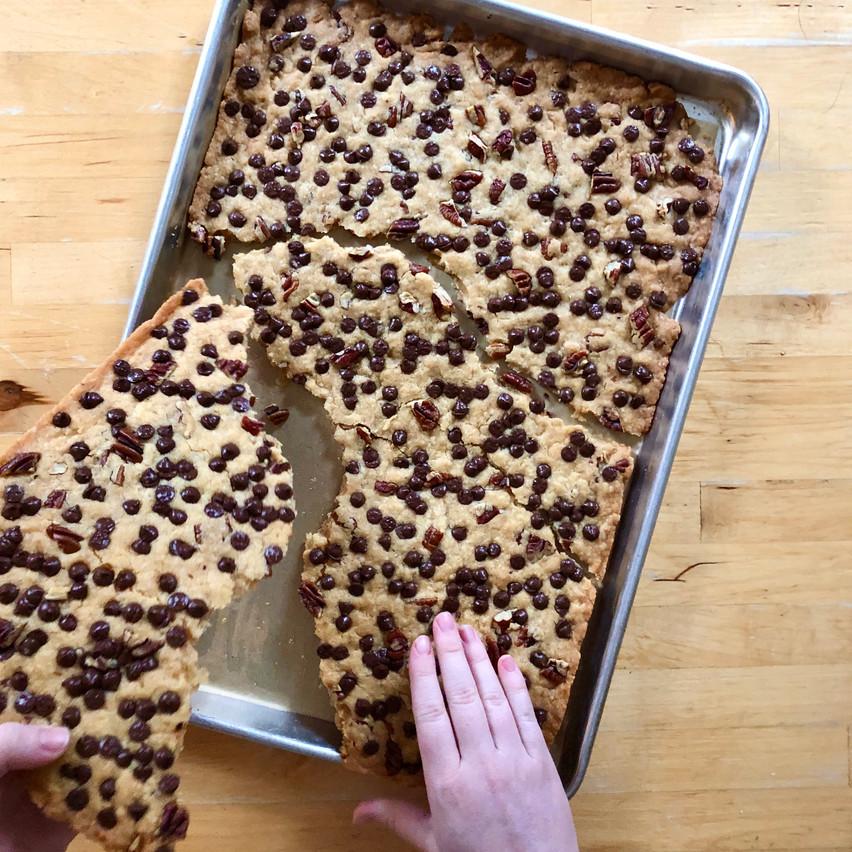 Breaking up Cookie Brittle