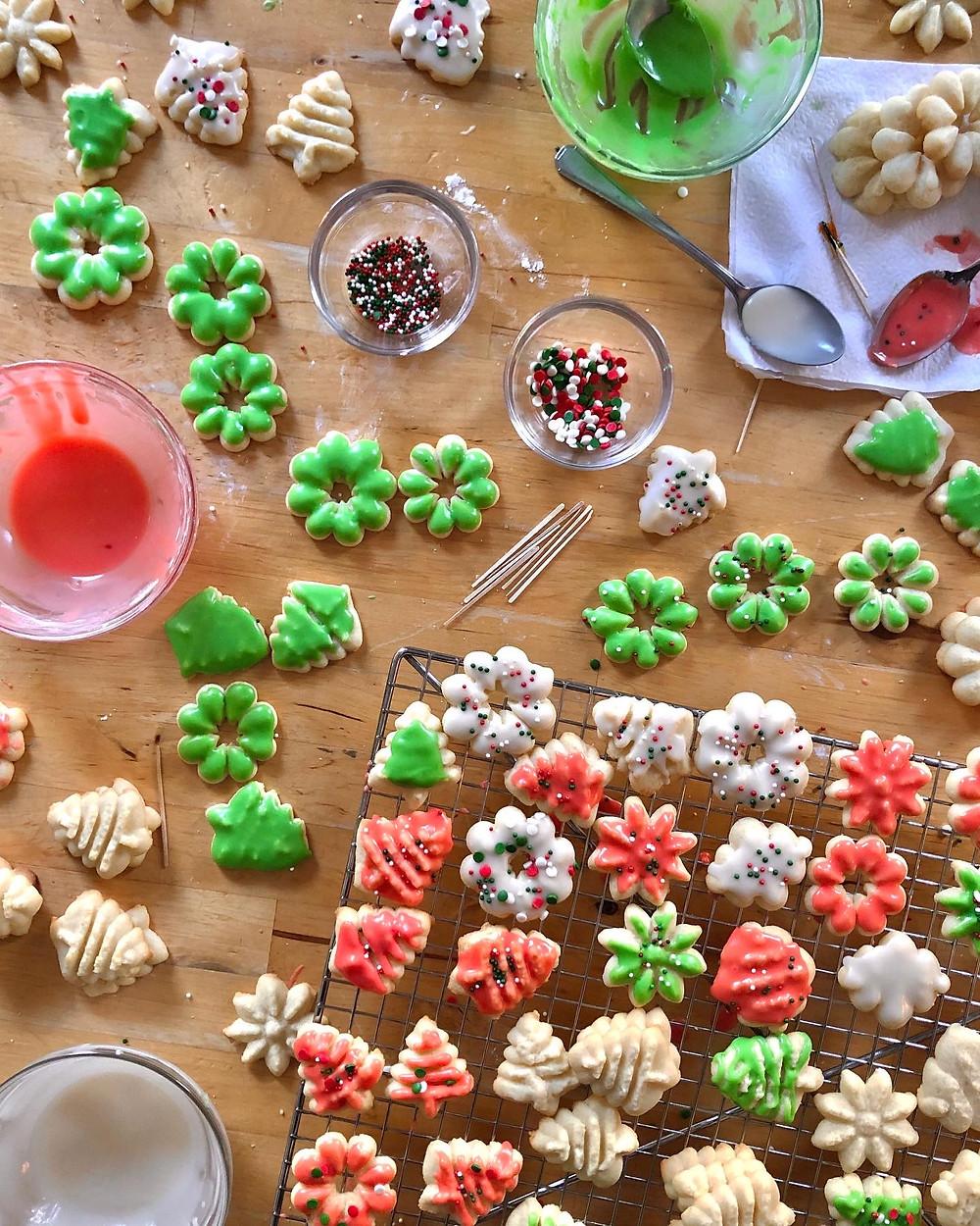 Spritz Cookies - #25daysofholidaycookies