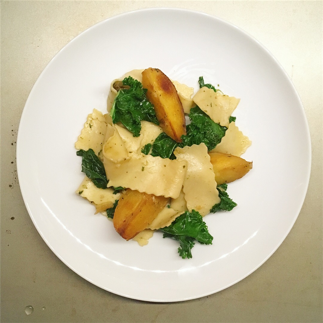 papardelle with kale and potatoes