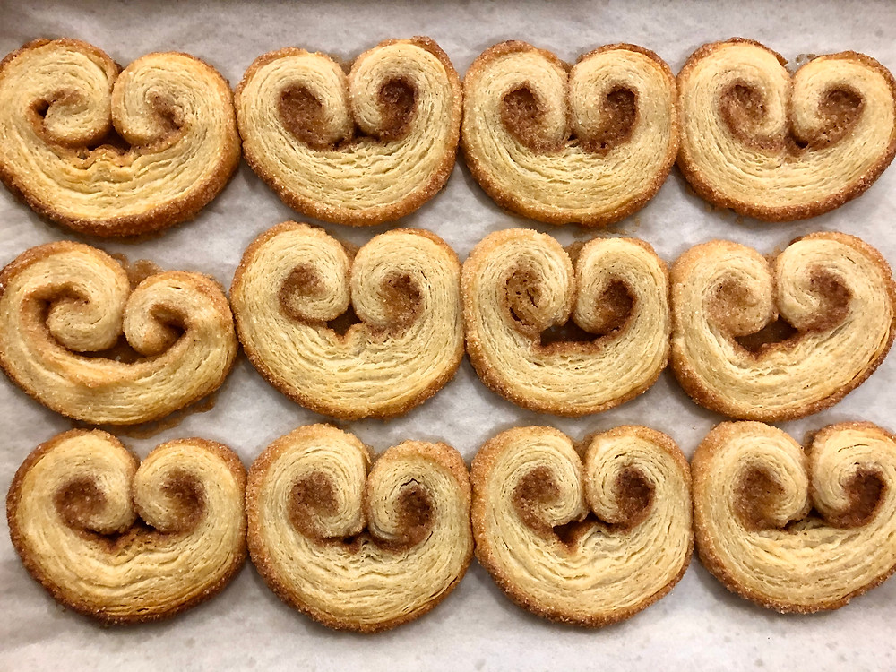 Palmier or Elephant Ear cookies - #25daysofholidaycookies