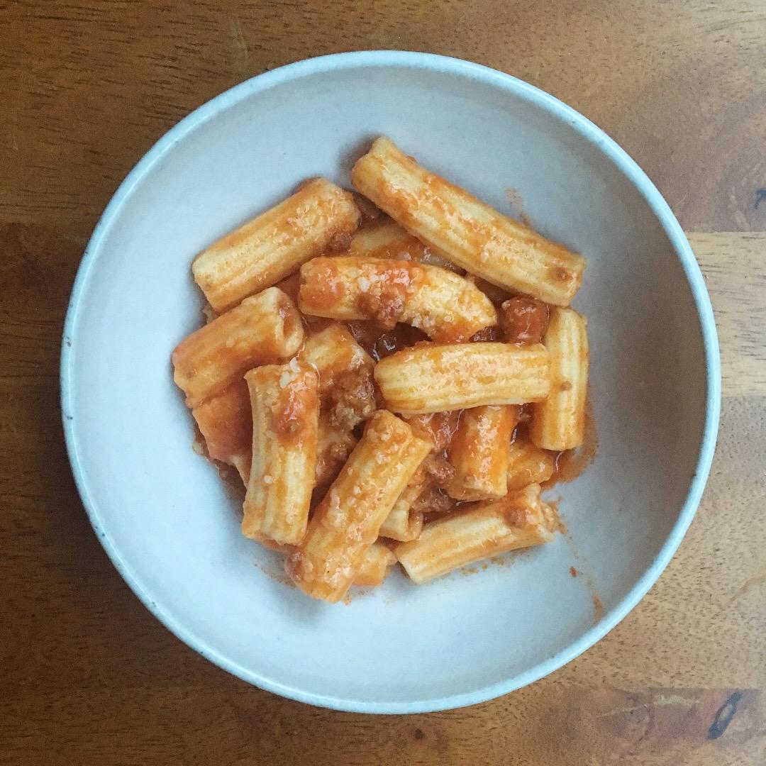 rigatoni bolognese, 100daysofpasta