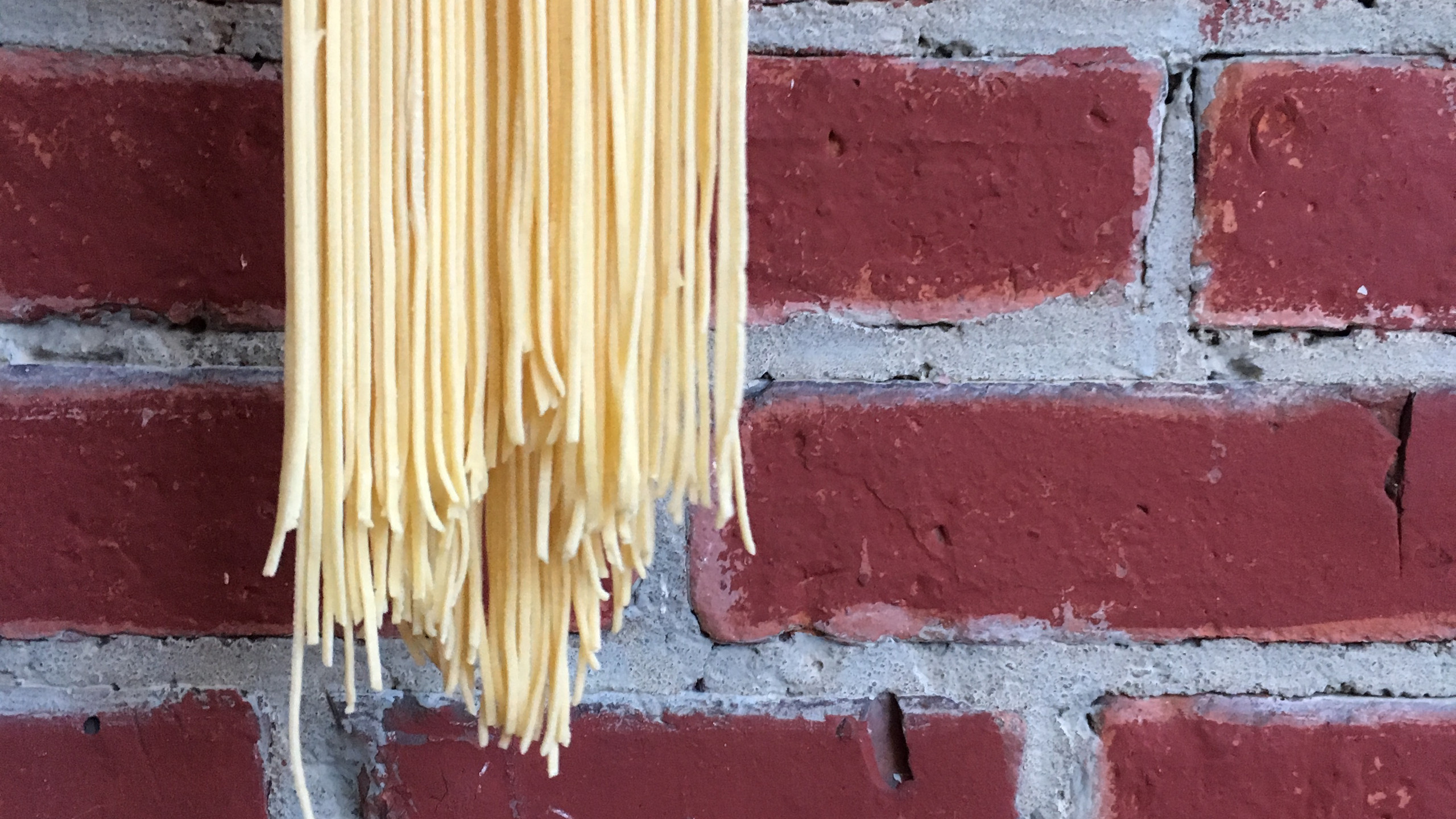 Linguine fini - on my porch, semolina and 00 flour 100 days of pasta