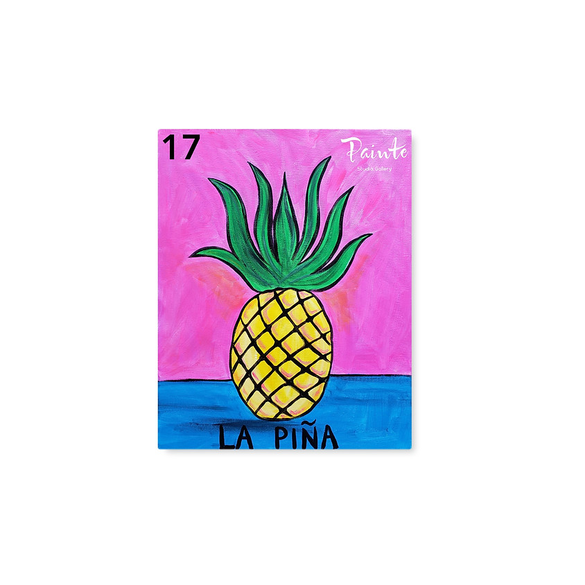 FREE Virtual Youth Paint Class: The Pineapple