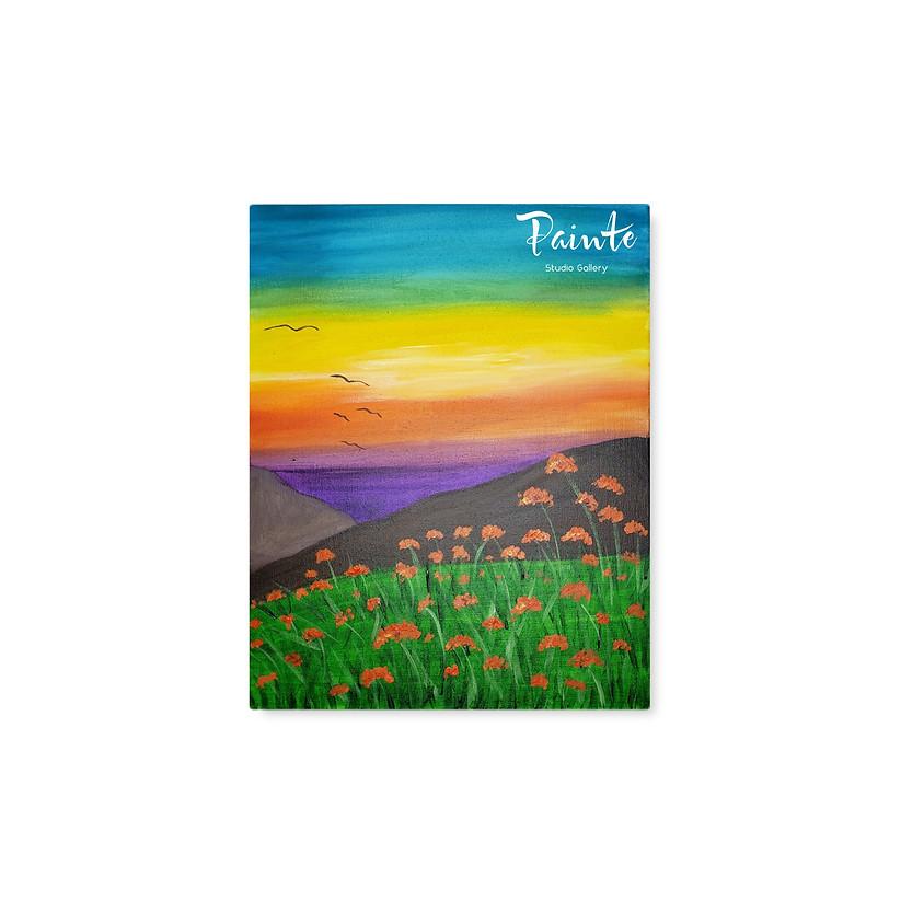 FREE Virtual Youth Paint Class: California Poppy