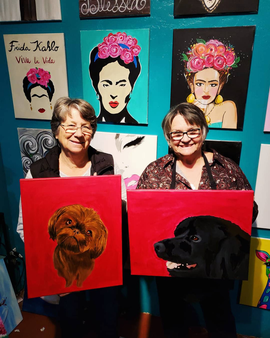 Paint Your Pet Night. Hosted at Painte Studio Gallery in Gonzales.