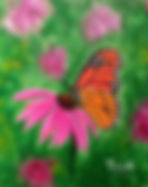 Flowers that Fly paint night hosted at Painte Studio Gallery.