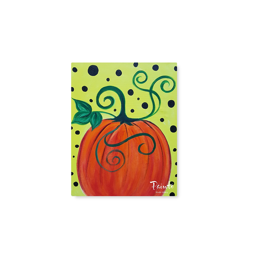 FREE Virtual Youth Paint Class: Pumpkin Party