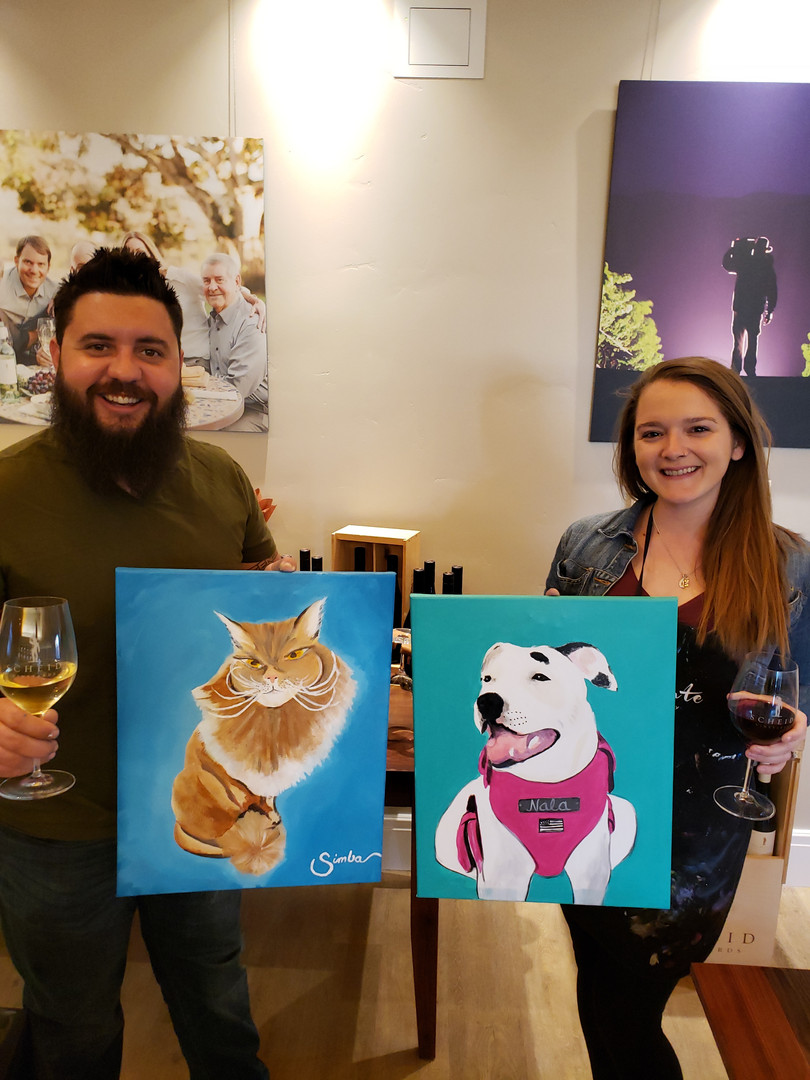 Happy couple traveling the USA added a Paint Your Pet to their route! So cool! Thanks guys!