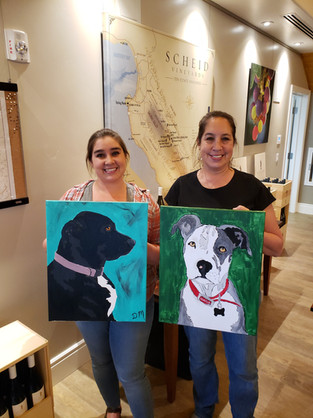 Mother daughter paint date! Love it!