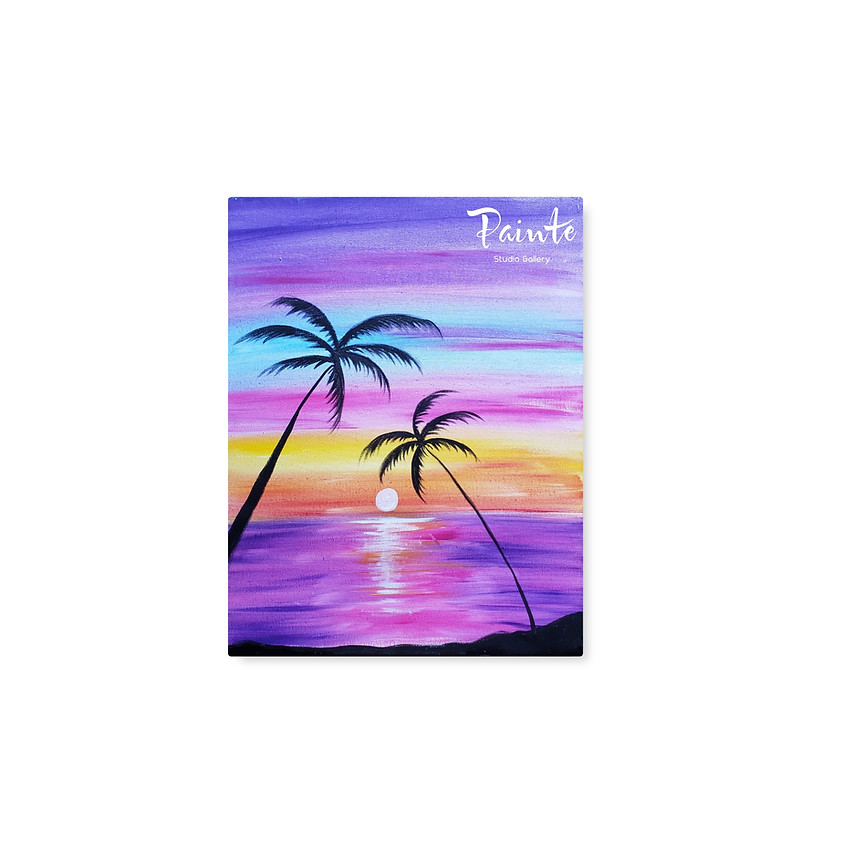 Virtual Youth Paint Class: Magical Sunset