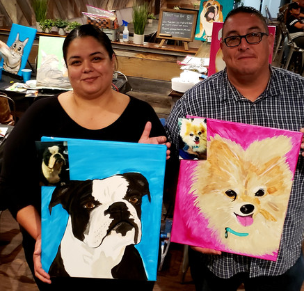 Paint Your Pet Night. Hosted at Fourth Street Tap House in Gonzales.