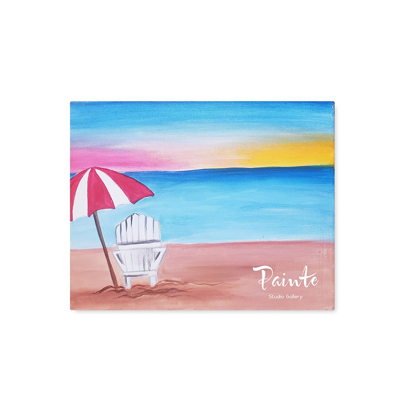Virtual Youth Paint Class: Life is a Beach
