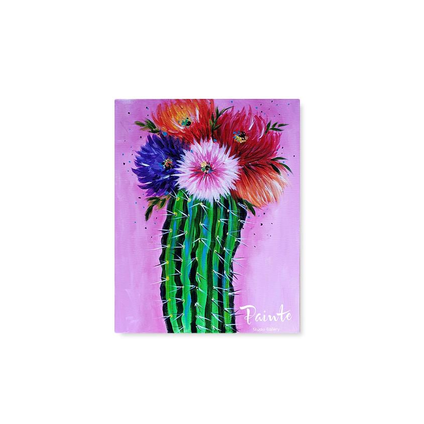 Virtual Paint Night: Fierce Blooms