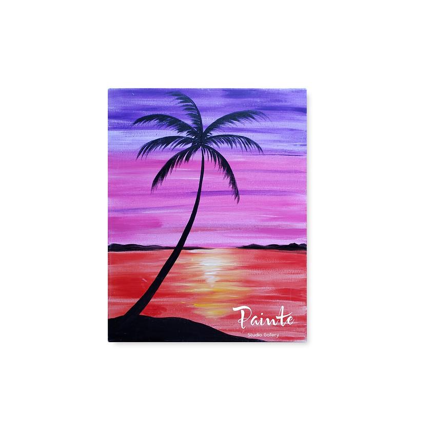 FREE Virtual Youth Paint Class: Palm Island