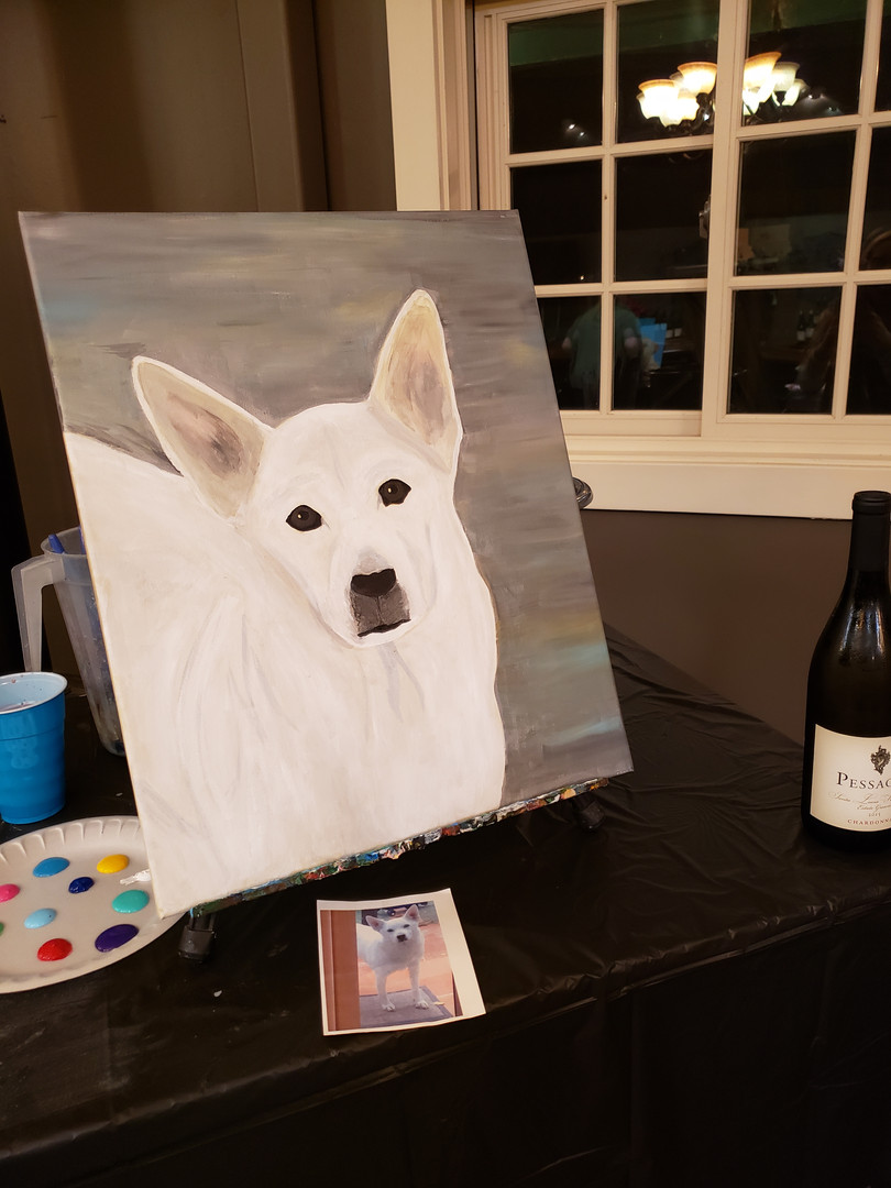 Paint Your Pet Night. Hosted at Pessagno Winery on River Rd.