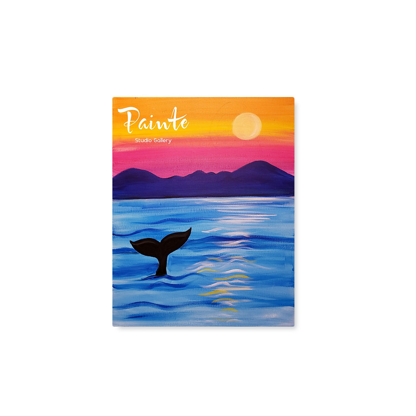 FREE Virtual Youth Paint Class: Whale Watching