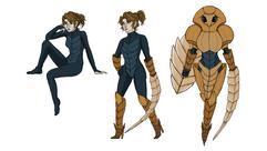 Exercice de personnage humanoïde