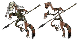 Personnage animal - poses dynamiques