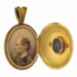 Mamie Dickens' mourning locket of Charles Dickens