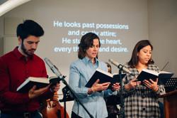 English worship service