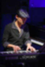 NOBU-K playing keyboards