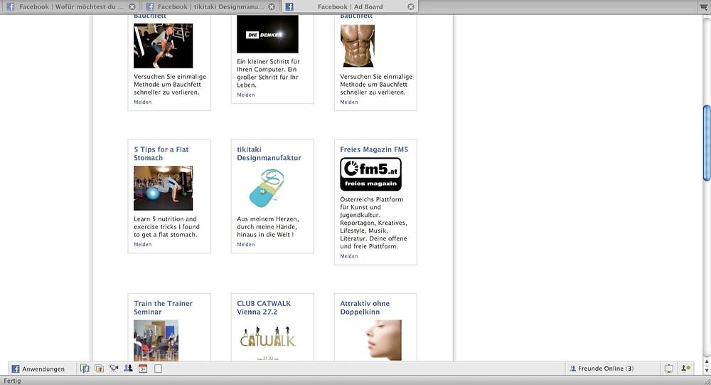 Alte Werbeanzeige auf Facebook