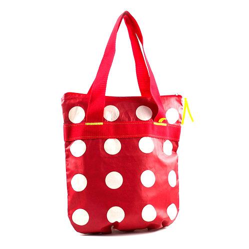 Polka Dot DeLuxe ° Shopper ° Rot mit weißen Punkten
